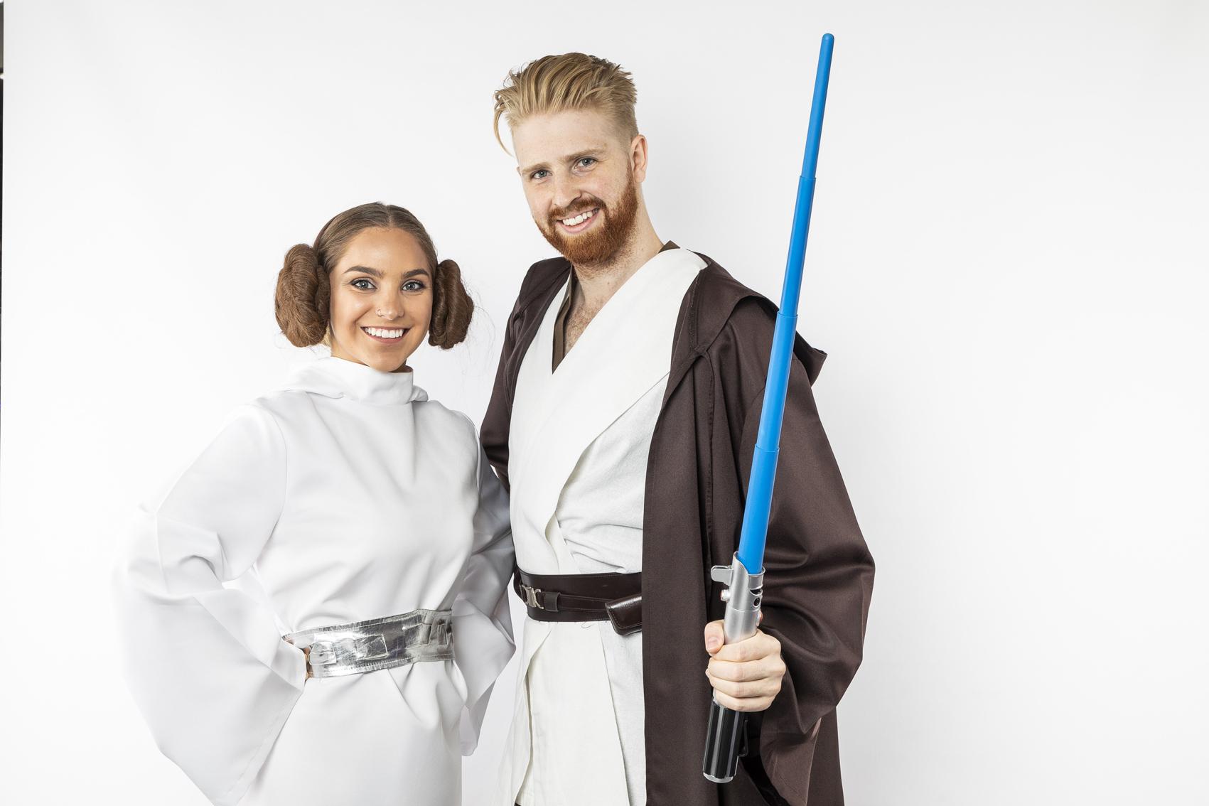 Princess Leia and Luke Skywalker